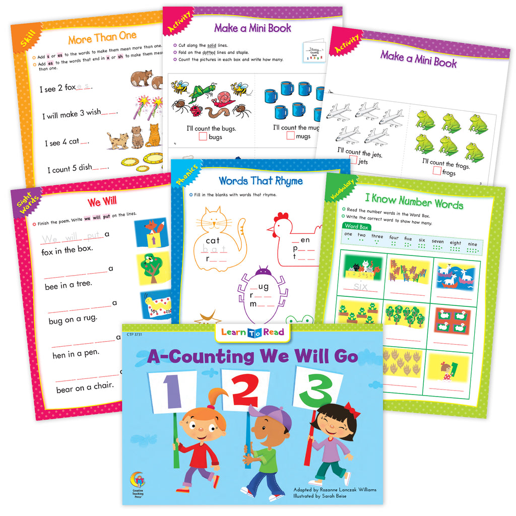 A-Counting We Will Go Ebook & Worksheets