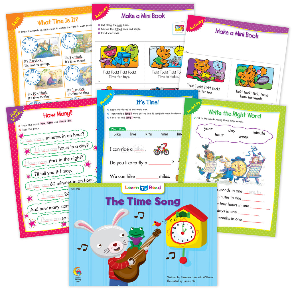 The Time Song  Ebook & Worksheets