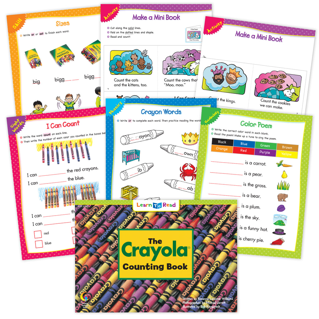 The Crayola Counting Book Ebook & Worksheets