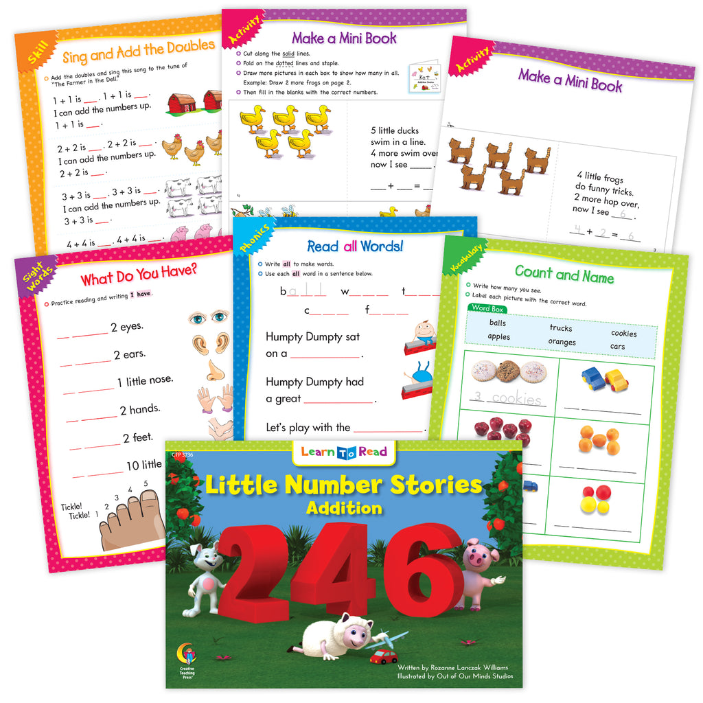 Little Number Stories Addition Ebook & Worksheets