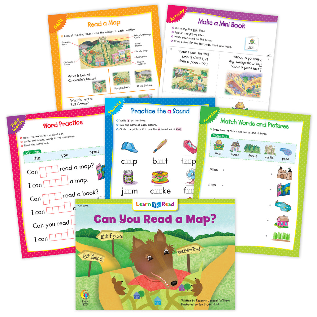 Can You Read A Map? Ebook & Worksheets