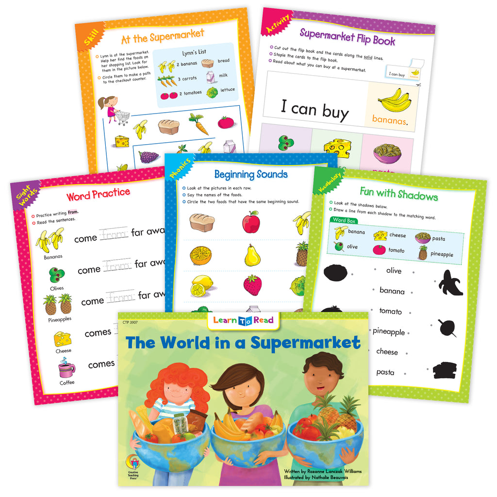 The World In A Supermarket Ebook & Worksheets