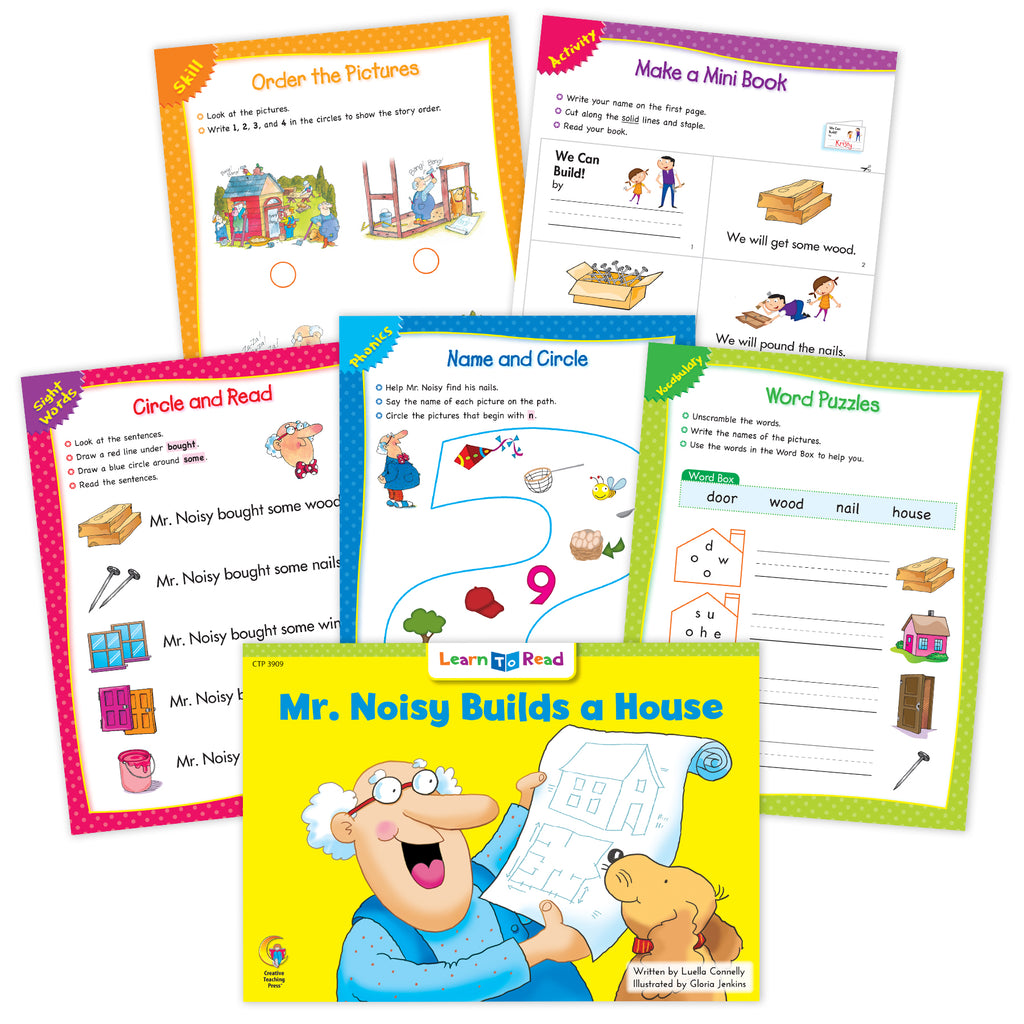 Mr. Noisy Builds a House Worksheets