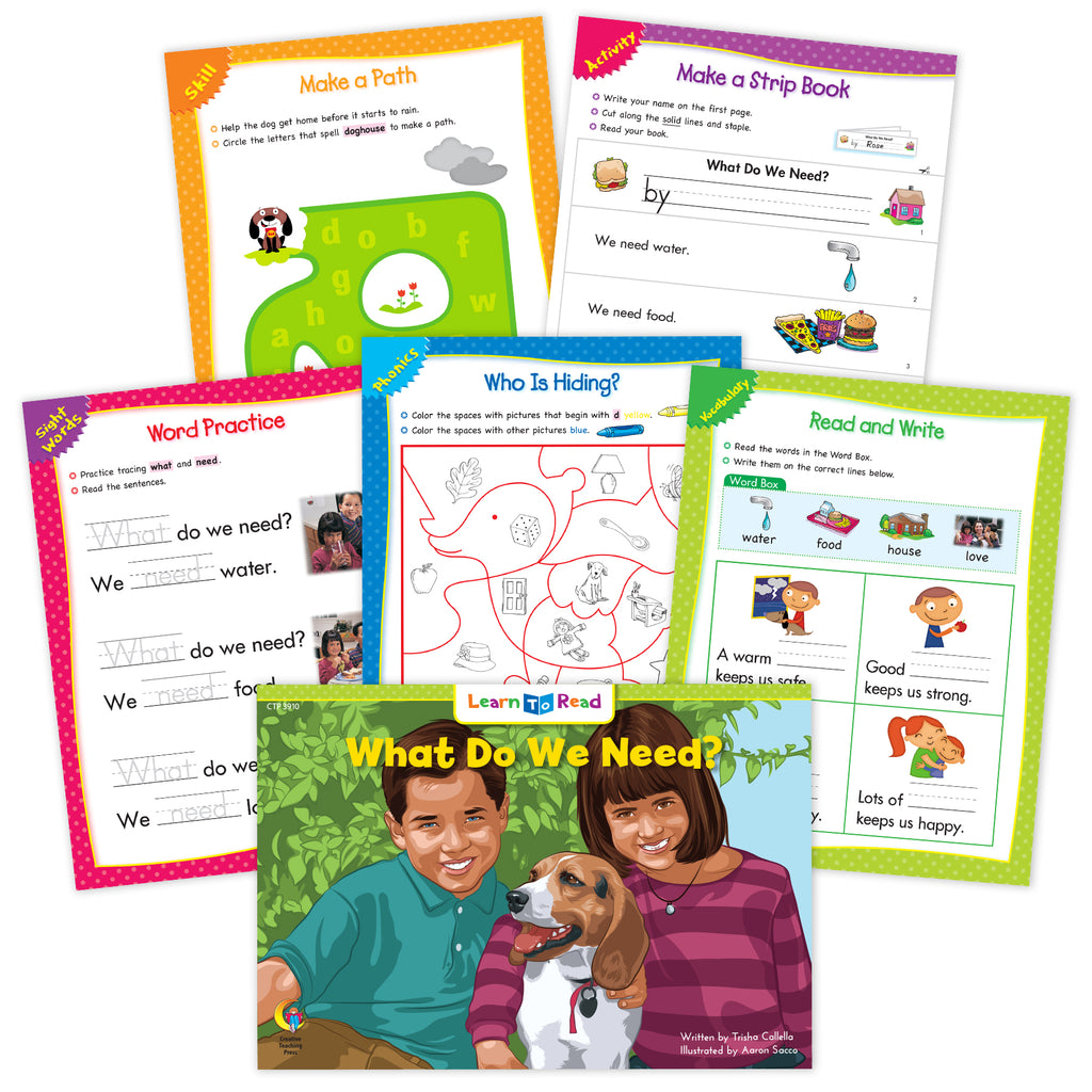 What Do We Need? Ebook & Worksheets