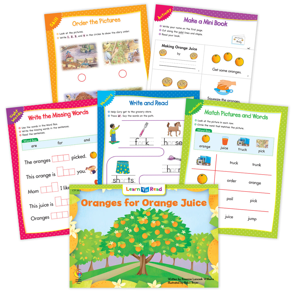 Oranges for Orange Juice Worksheets