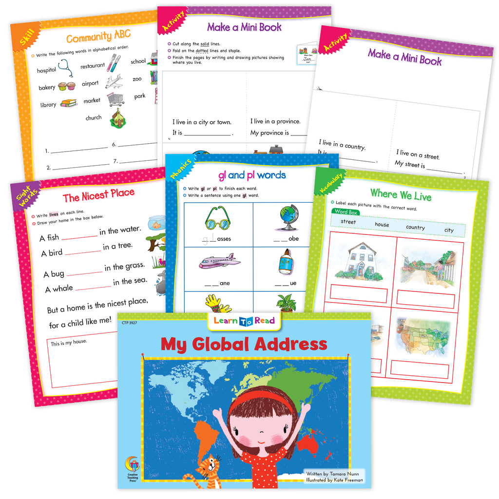 My Global Address Worksheets