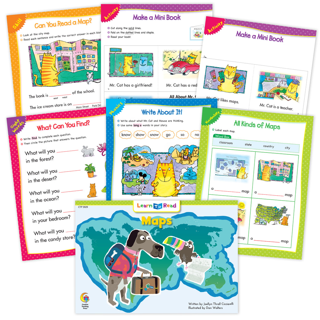 Maps Ebook & Worksheets