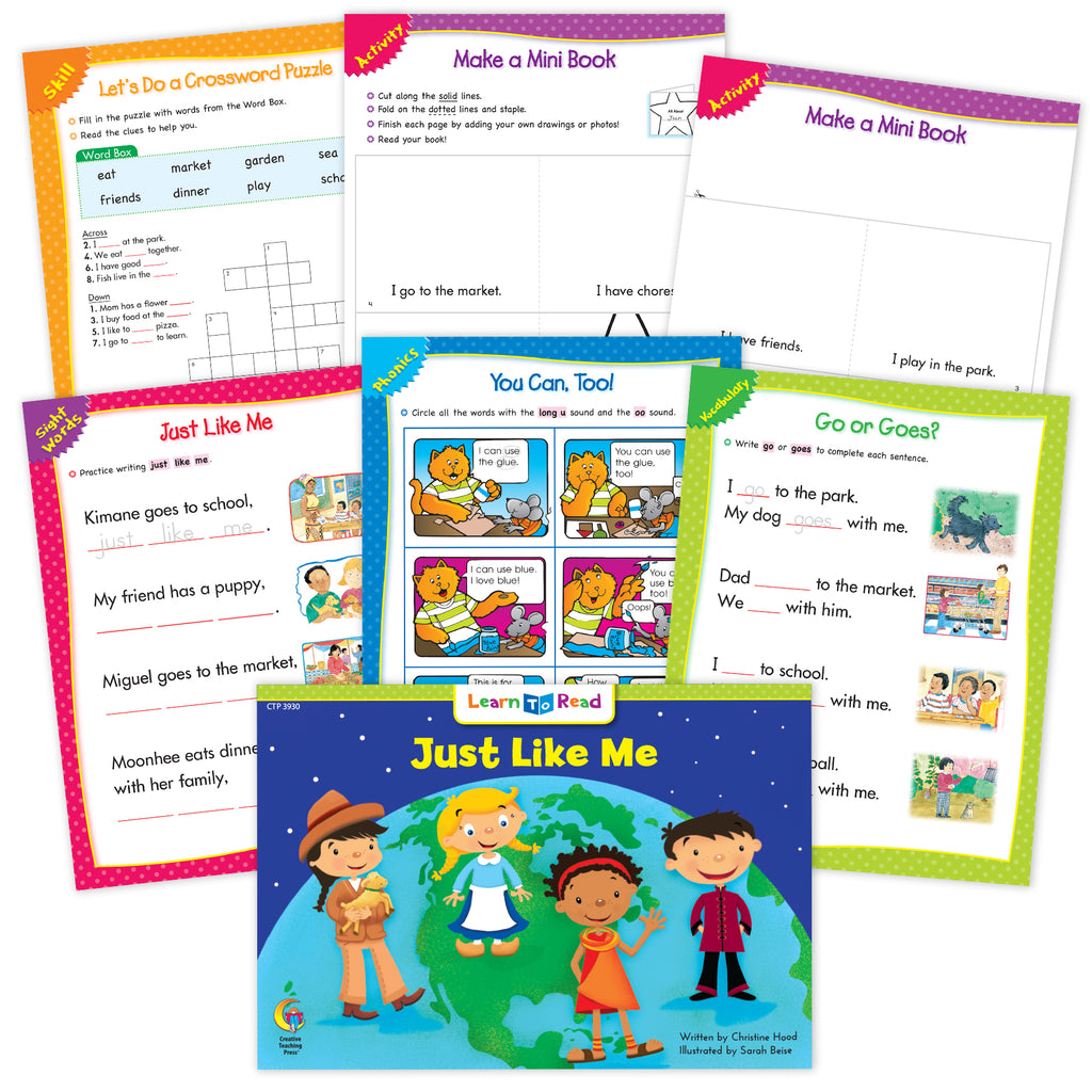Just Like Me Ebook & Worksheets