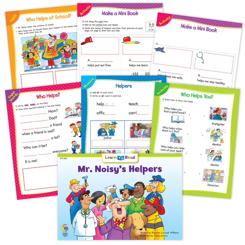 Mr. Noisy's Helpers Ebook & Worksheets