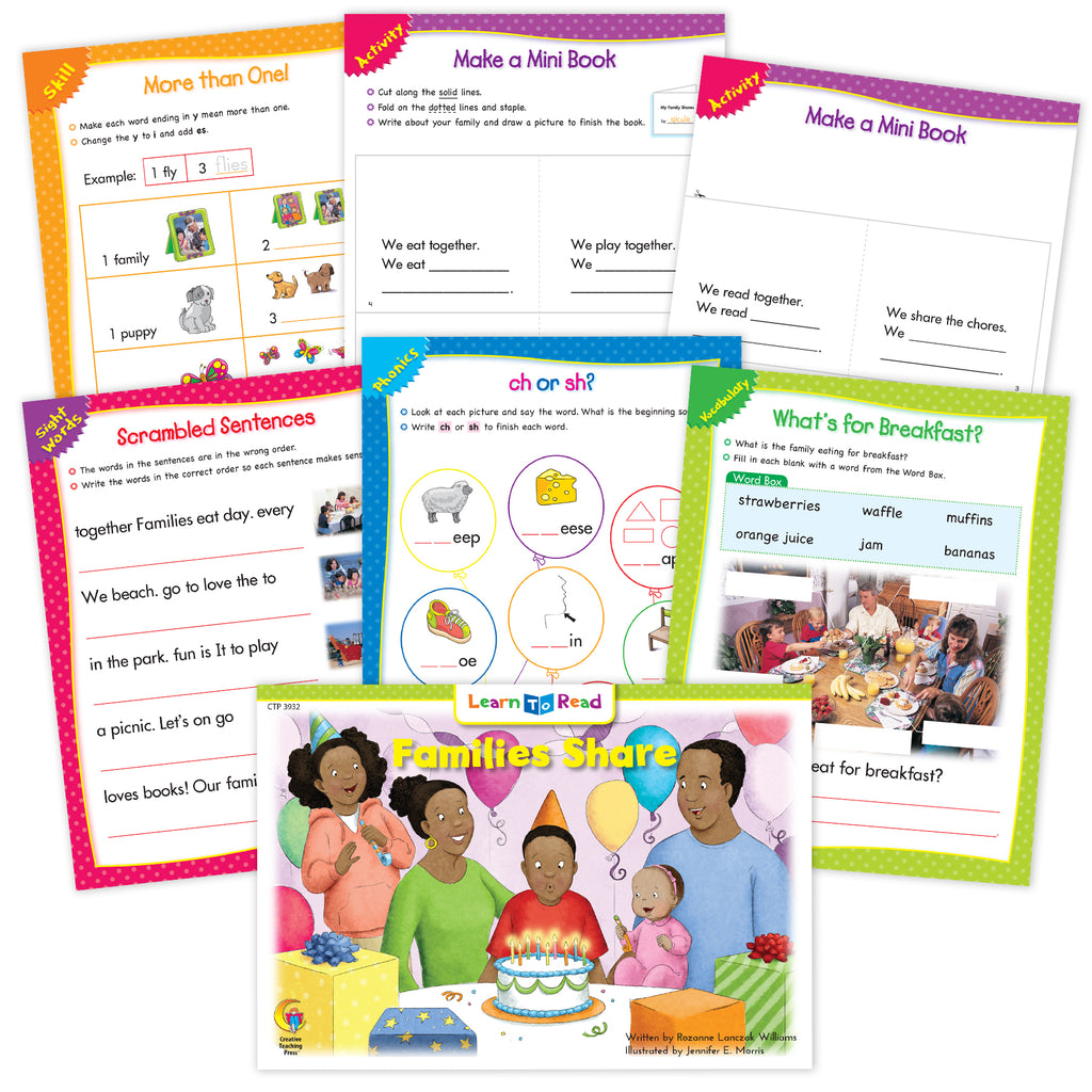 Families Share Ebook & Worksheets