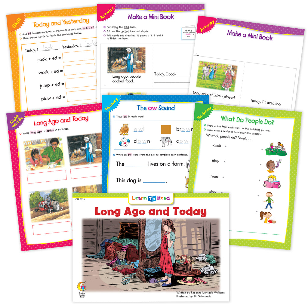 Long Ago And Today Ebook & Worksheets