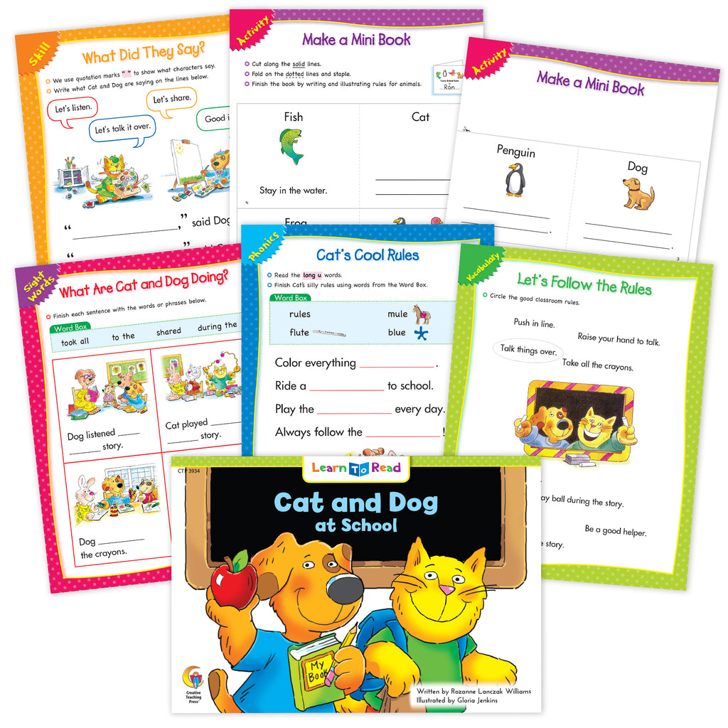Cat And Dog Ebook & Worksheets