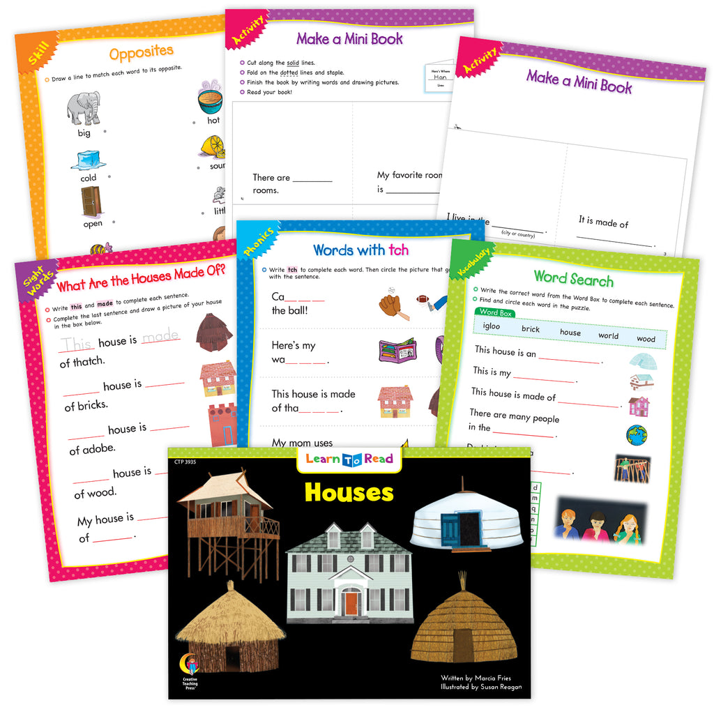 Houses Ebook & Worksheets