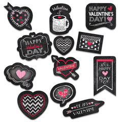 Chalk Valentine's Day Stickers