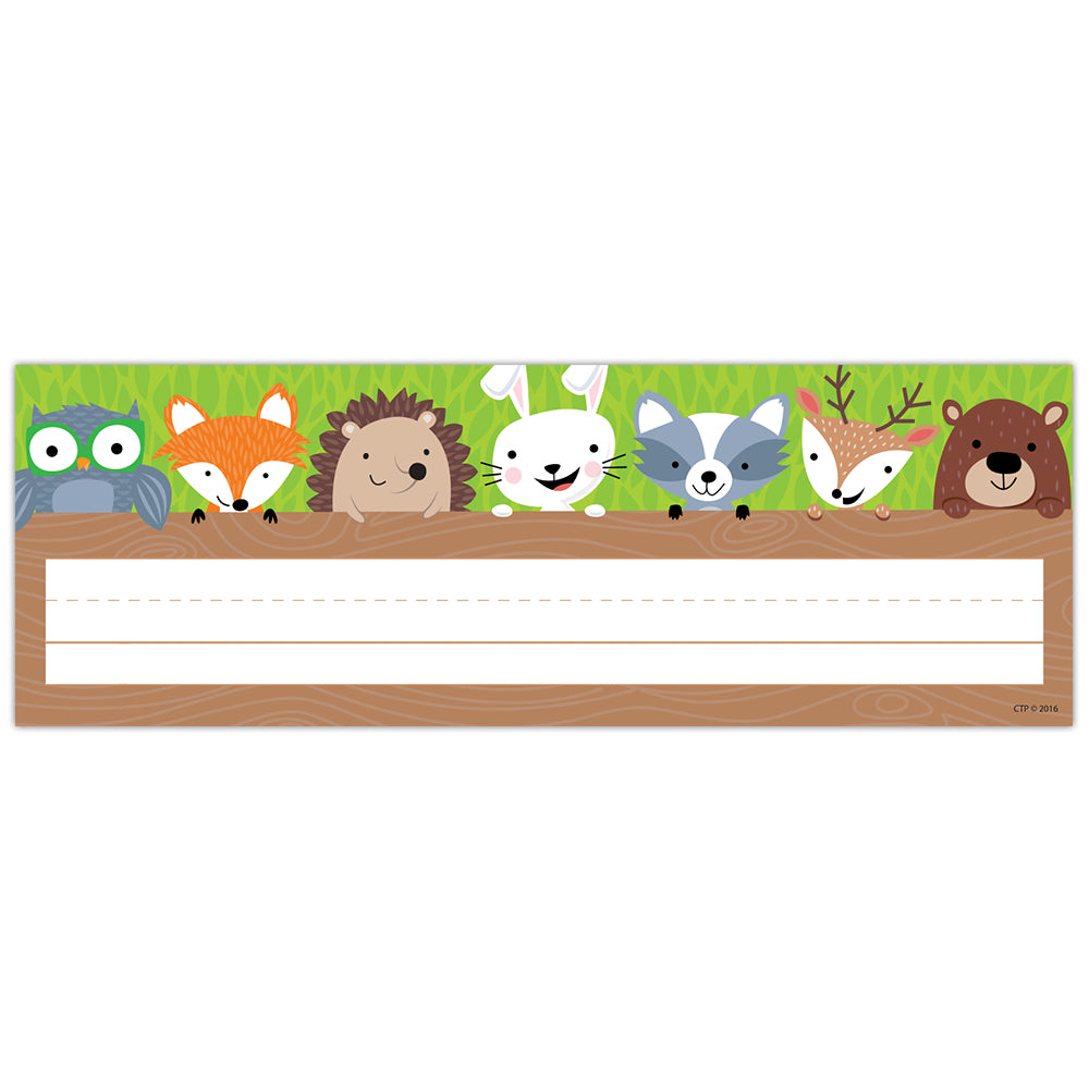 Woodland Friends Name Plate