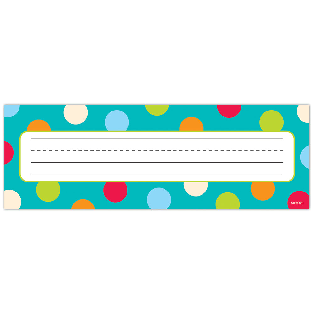Dots on Turquoise Name Plates