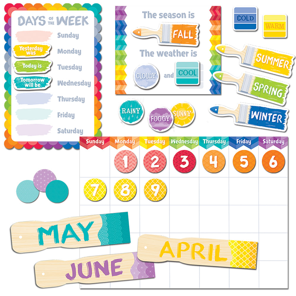 Painted Palette Calendar Set