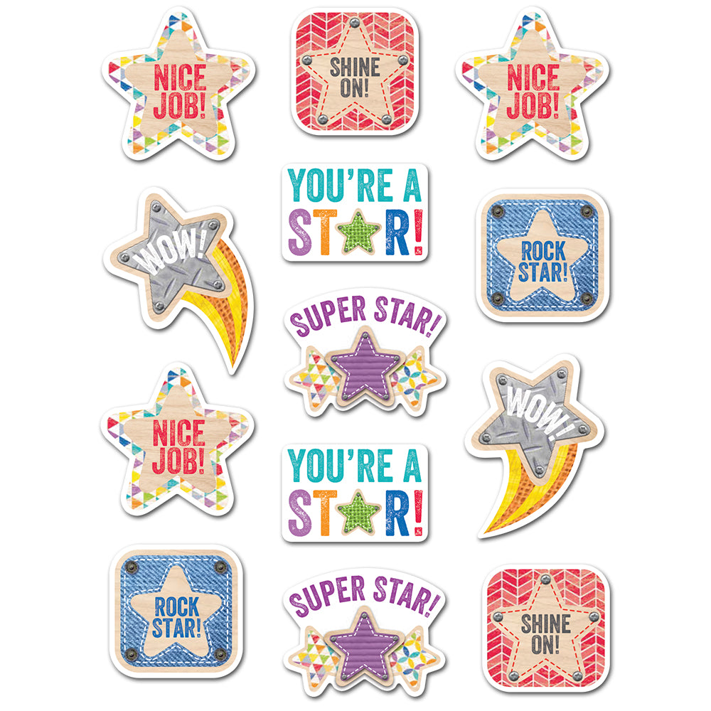 Upcycle Style Star Rewards Stickers