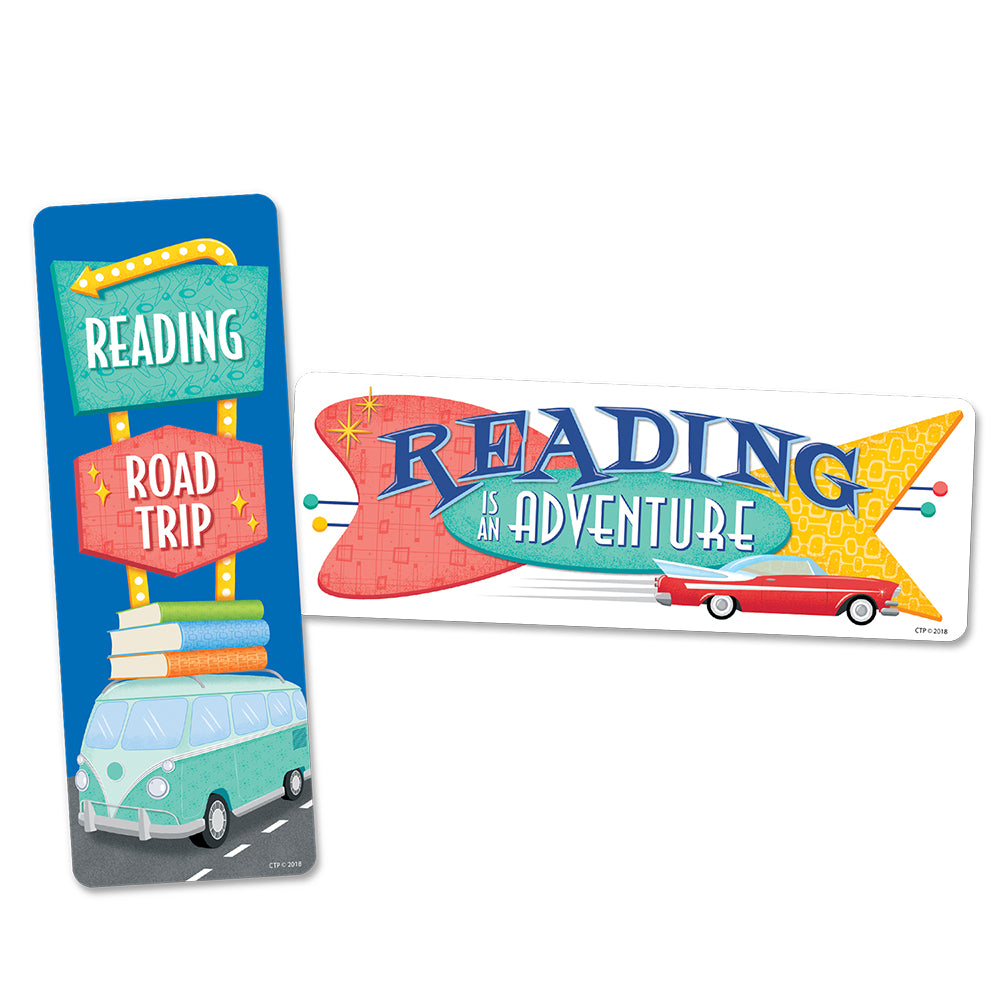 Mid-Century Mod Reading Road Trip Bookmarks