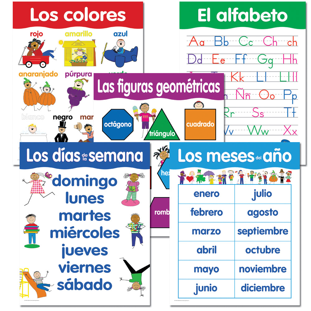 Spanish Basic Skills 5-Chart Pack