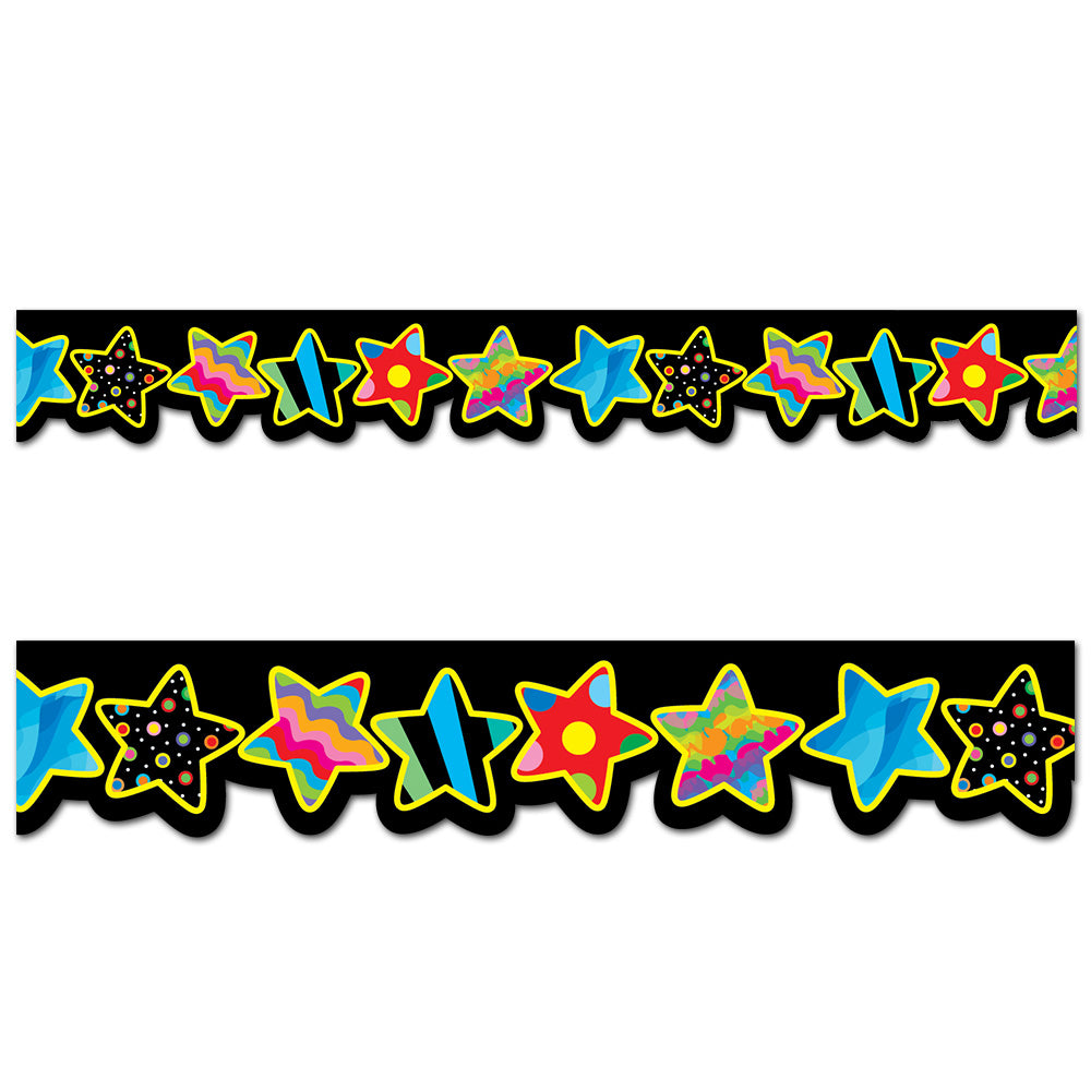 Poppin' Patterns Stars Border