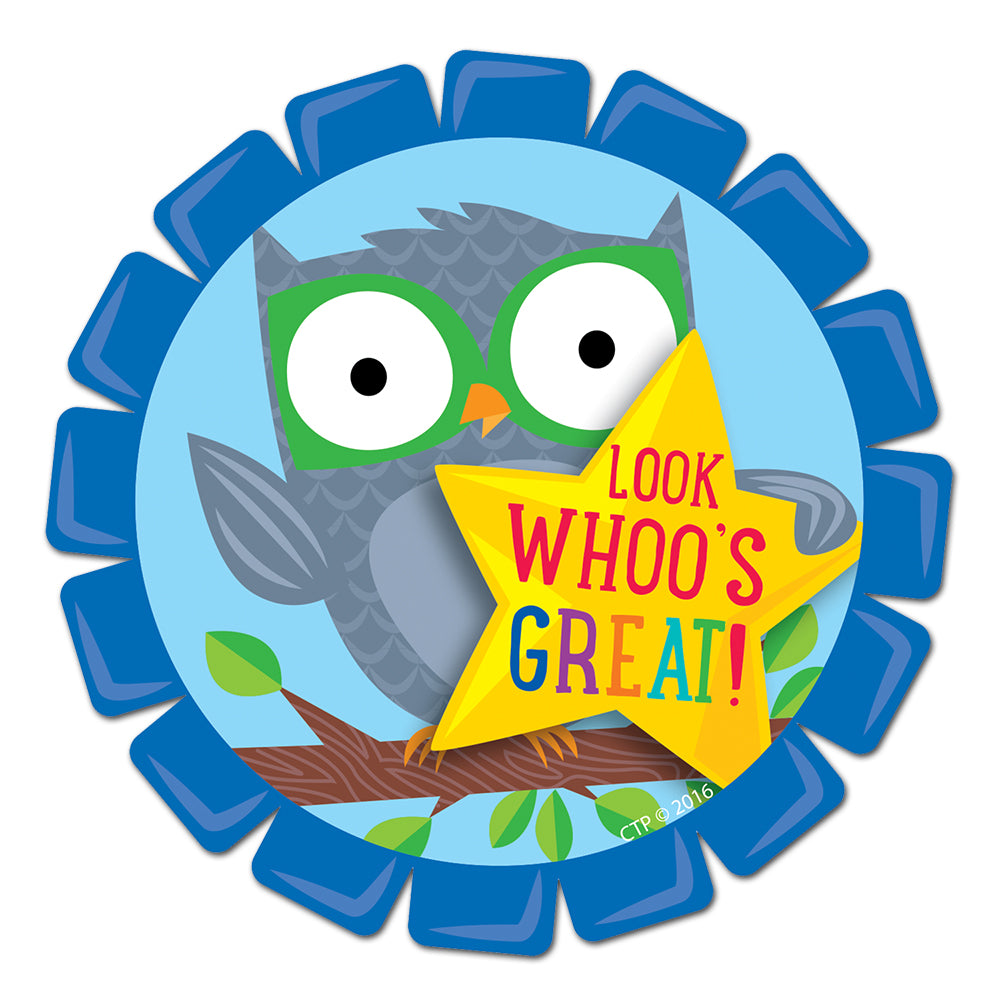 Woodland Friends Look Whoo's Great! Badge