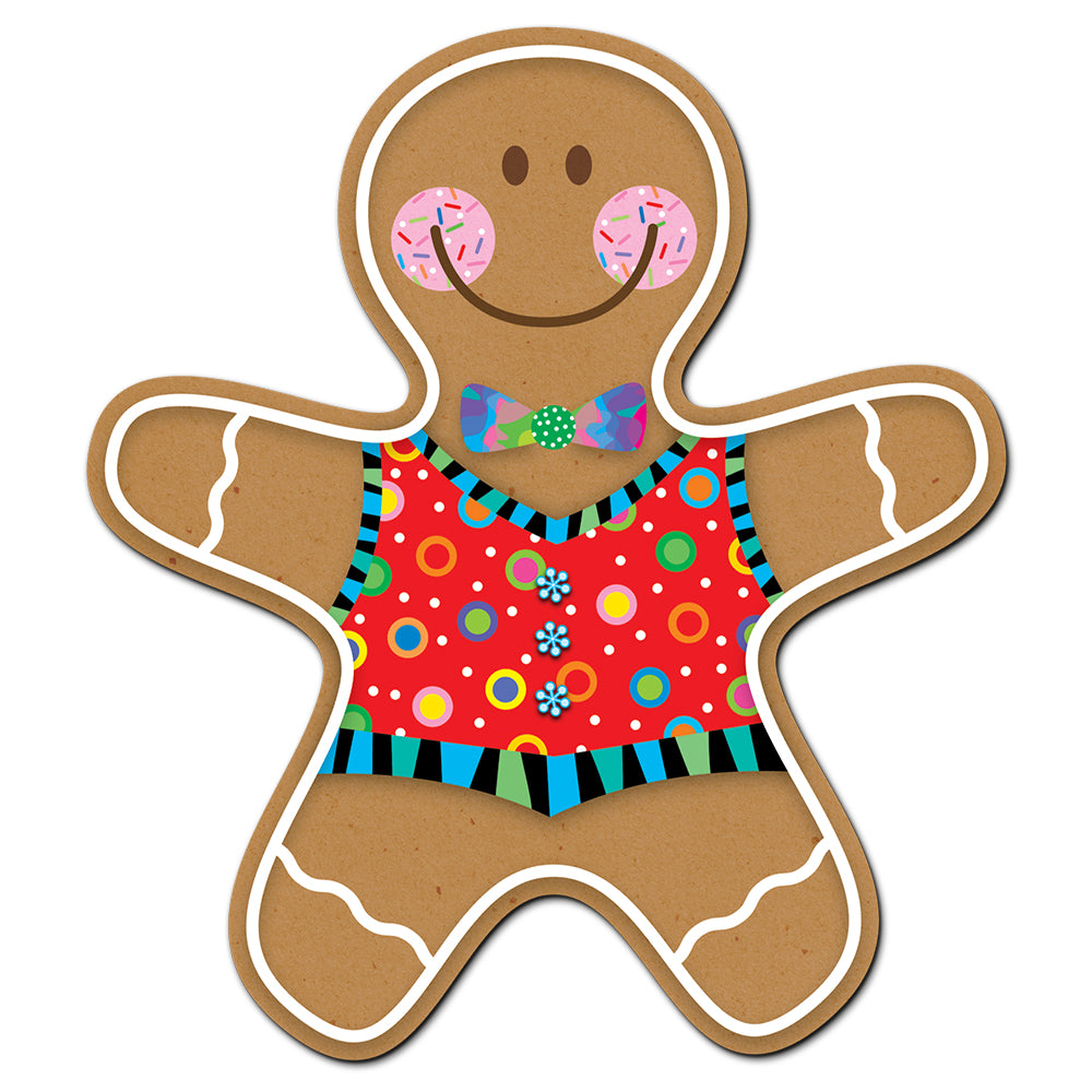 "Gingerbread Man 6"" Designer Cut-Outs"
