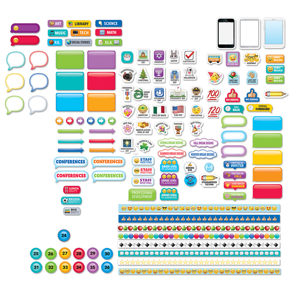 Emoji Fun Lesson Planner Stickers