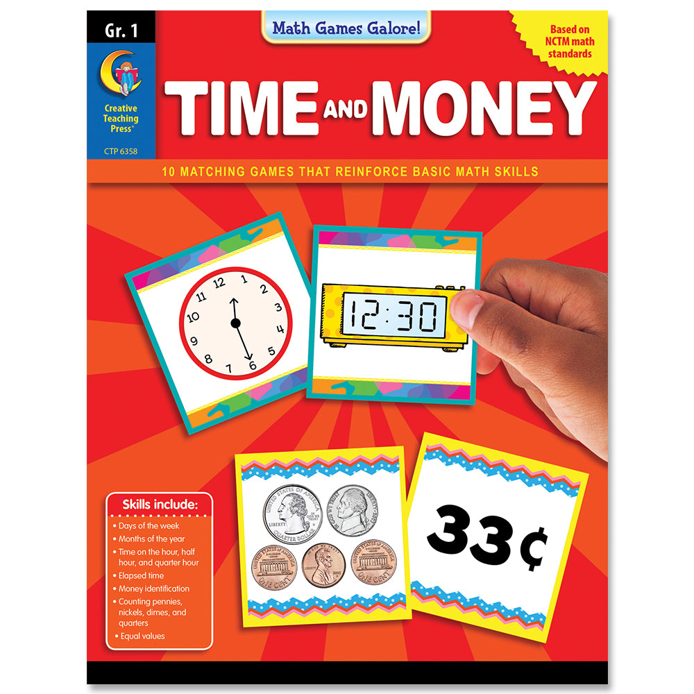 Math Games Galore: Time and Money, Gr. 1, eBook