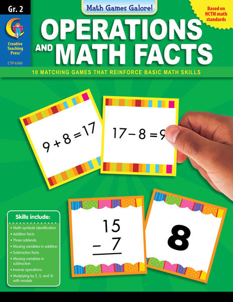 Math Games Galore: Operations and Math Facts, Gr. 2, eBook