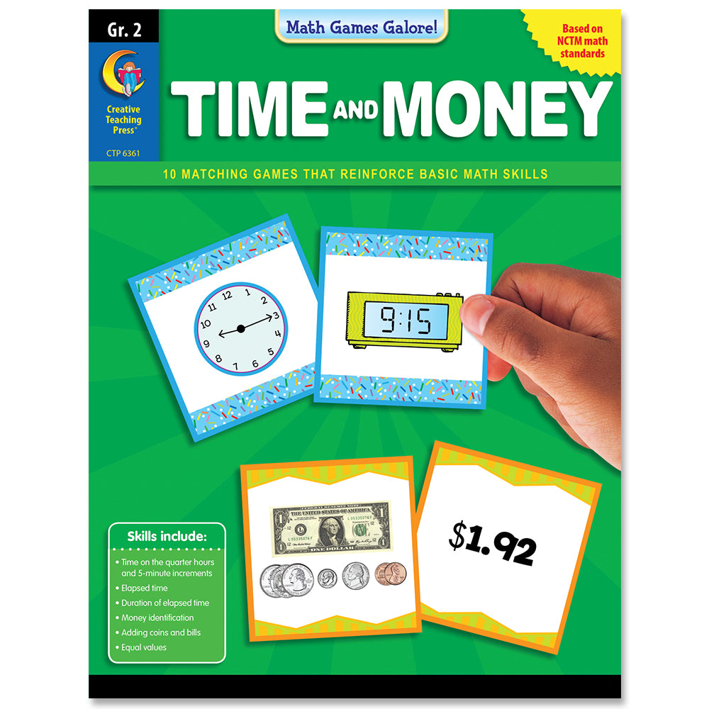 Math Games Galore: Time and Money, Gr. 2, eBook