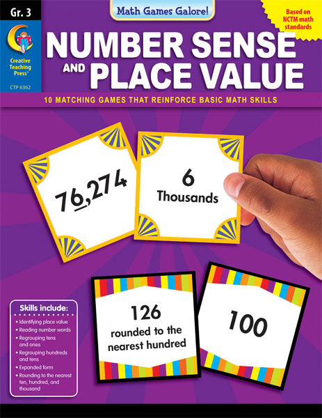 Number Sense and Place Value Interactive Learning Games, Gr. 3