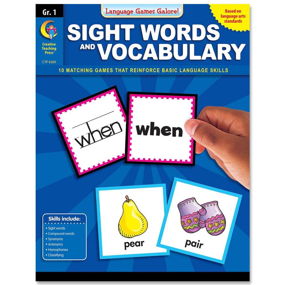 Language Games Galore: Sight Words and Vocabulary, Gr. 1, eBook