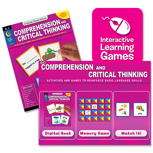 Comprehension and Critical Thinking Interactive Learning Games, Gr. 2
