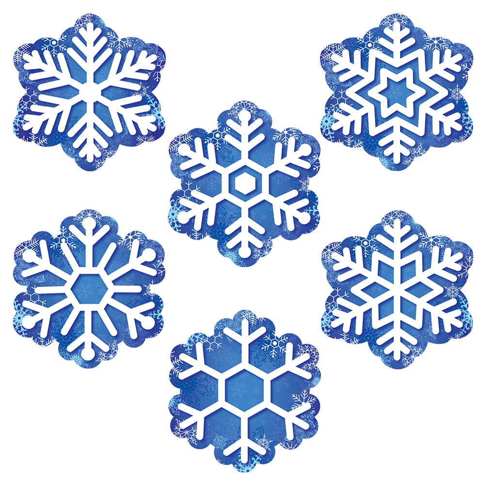 "Snowflakes 6"" Designer Cut-Outs"
