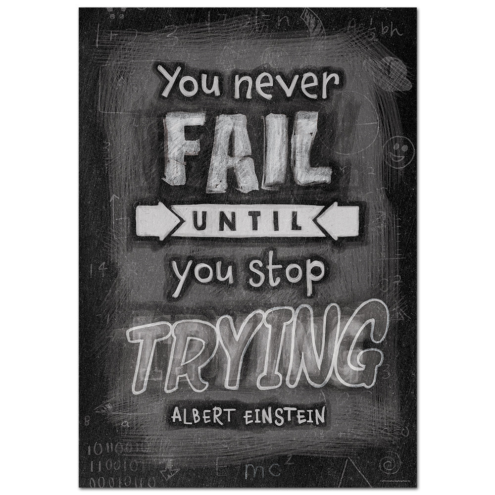You Never Fail Until… Inspire U Poster