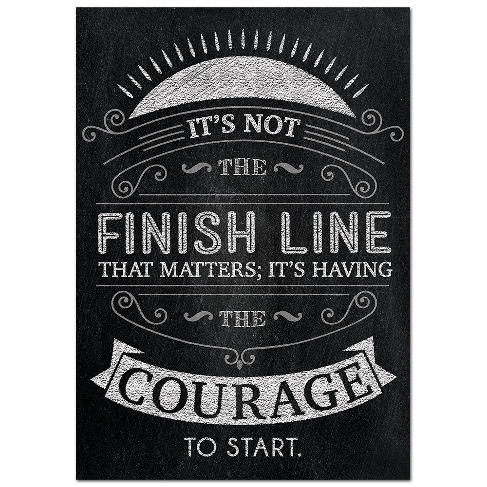 It's not the finish line… Inspire U Poster