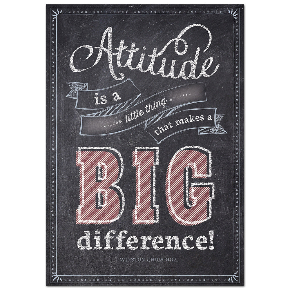 Attitude is a little thing… Inspire U Poster