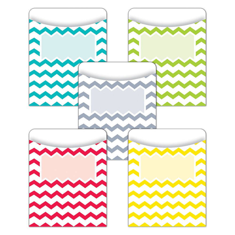 Chevron Solids Library Pockets - Standard