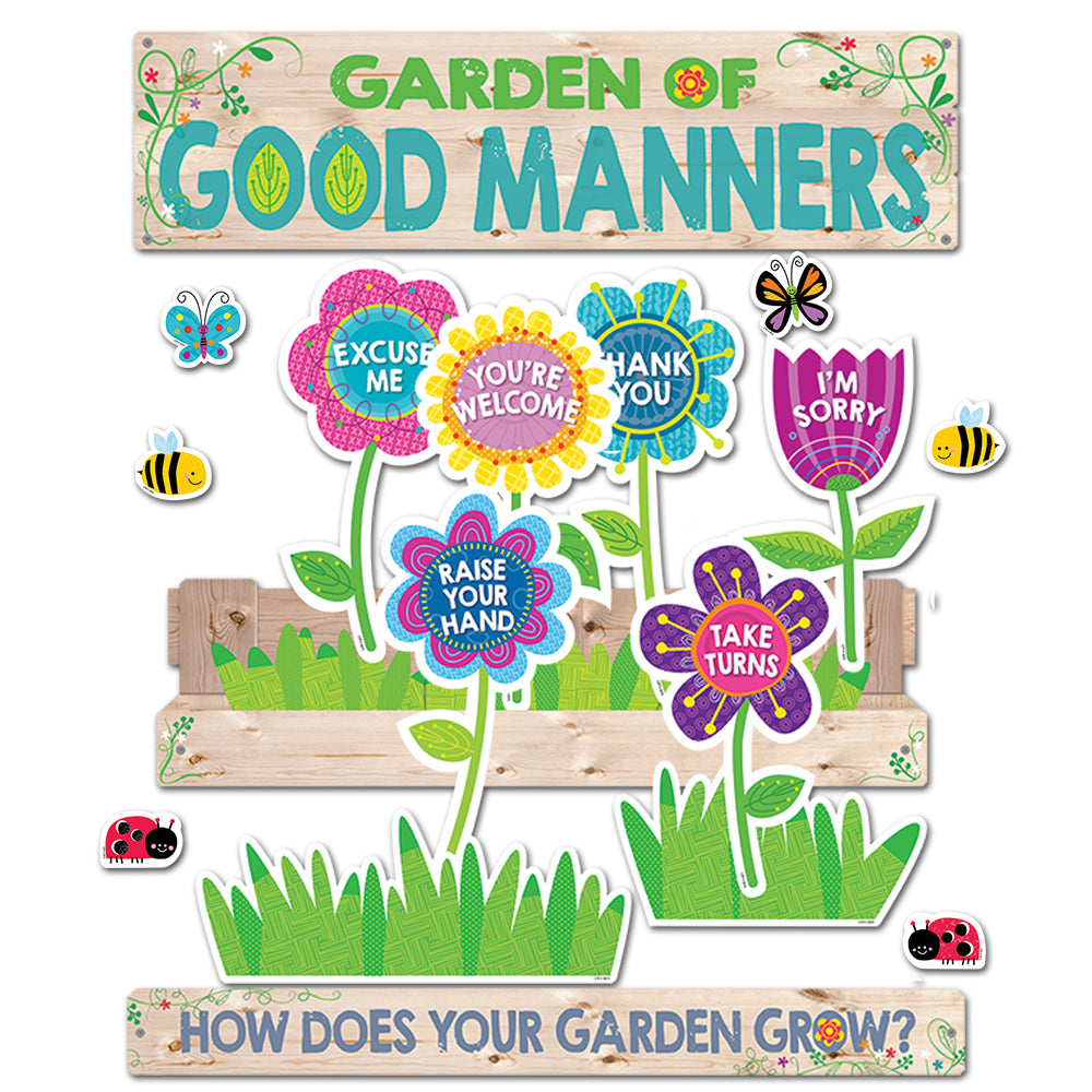 Garden of Good Manners Mini Bulletin Board
