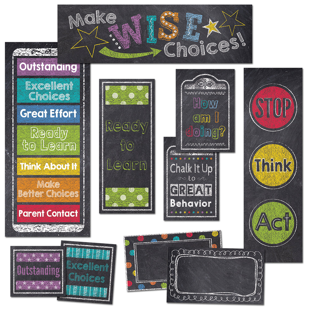 Chalk It Up! Behavior Clip Chart Mini Bulletin Board
