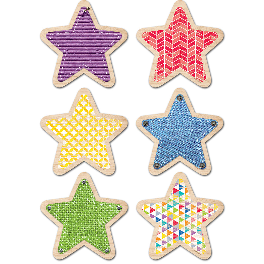 "Upcycle Style Stars 10"" Jumbo Designer Cut-Outs"