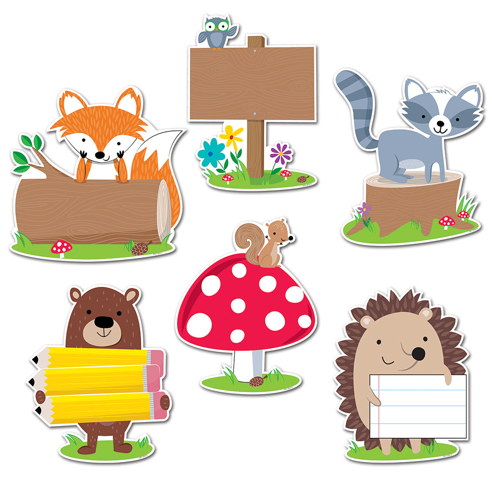 "Woodland Friends 10"" Jumbo Designer Cut-Outs"