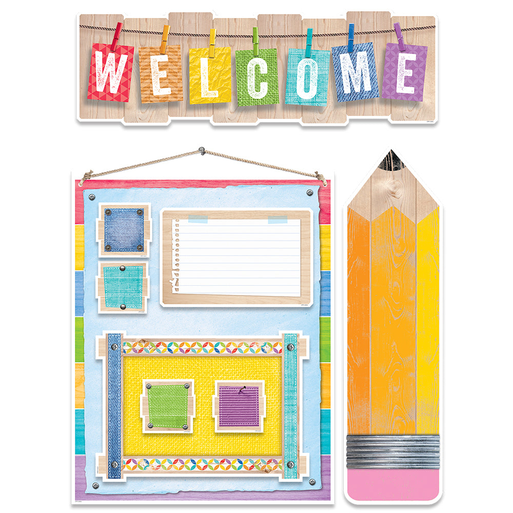 Upcycle Style Welcome Bulletin Board