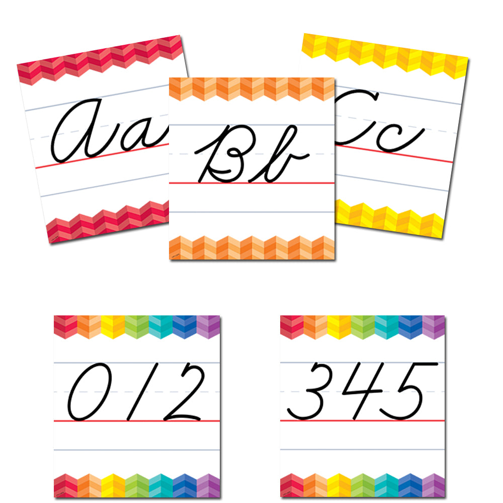 Painted Palette Cursive Handwriting Alphabet Bulletin Board