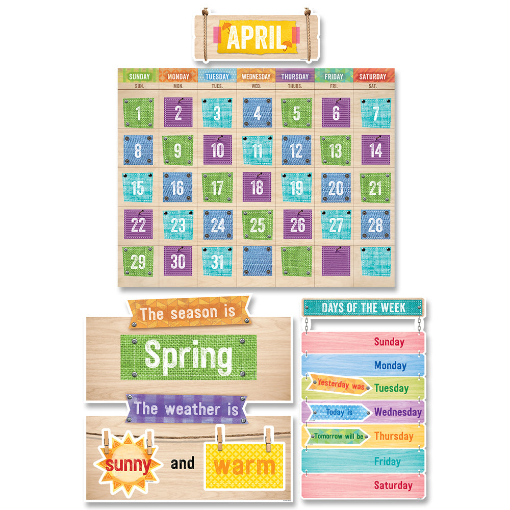 Upcycle Style Calendar Set Bulletin Board