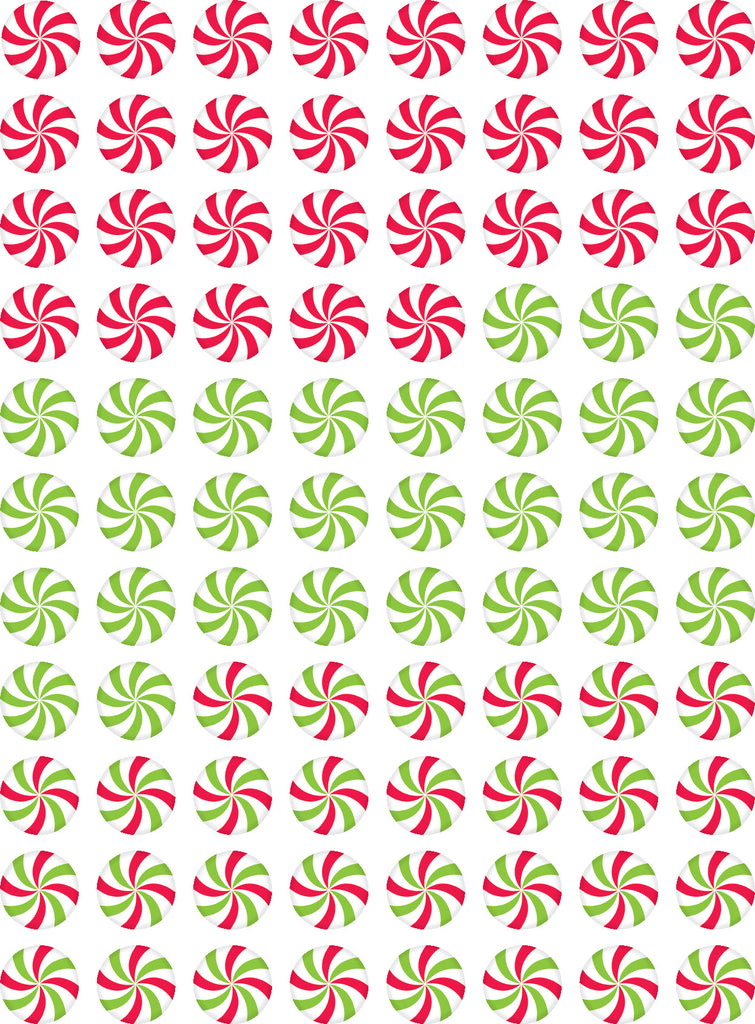 Peppermint Candies Hot Spots Stickers