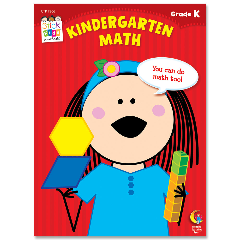 Kindergarten Math Stick Kids Workbook eBook
