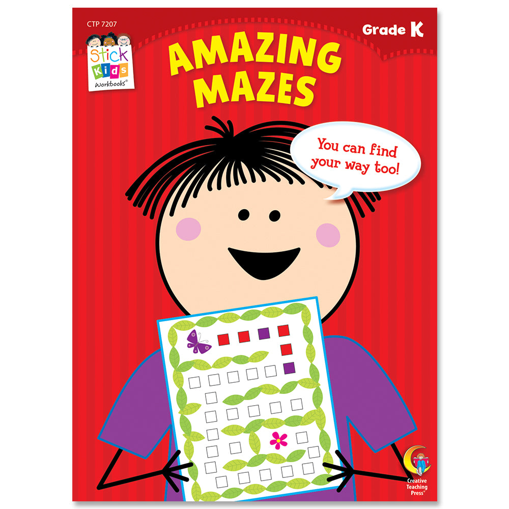 Amazing Mazes Stick Kids Workbook, Grade K eBook