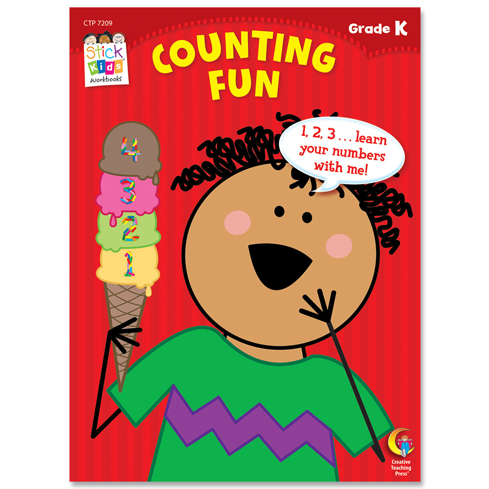 Counting Fun Stick Kids Workbook, Grade K eBook